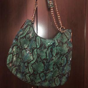 BEBE Green Snake Shoulder Bag